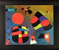 Joan Miro (Spanish, 1893-1983) - Oil Painting