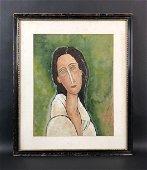 Amedeo Modigliani (Italian, 1884-1920) -- Oil Painting