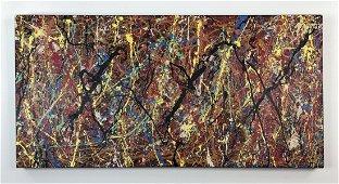 Jackson Pollock (1912 - 1956) - Acrylic on Canvas