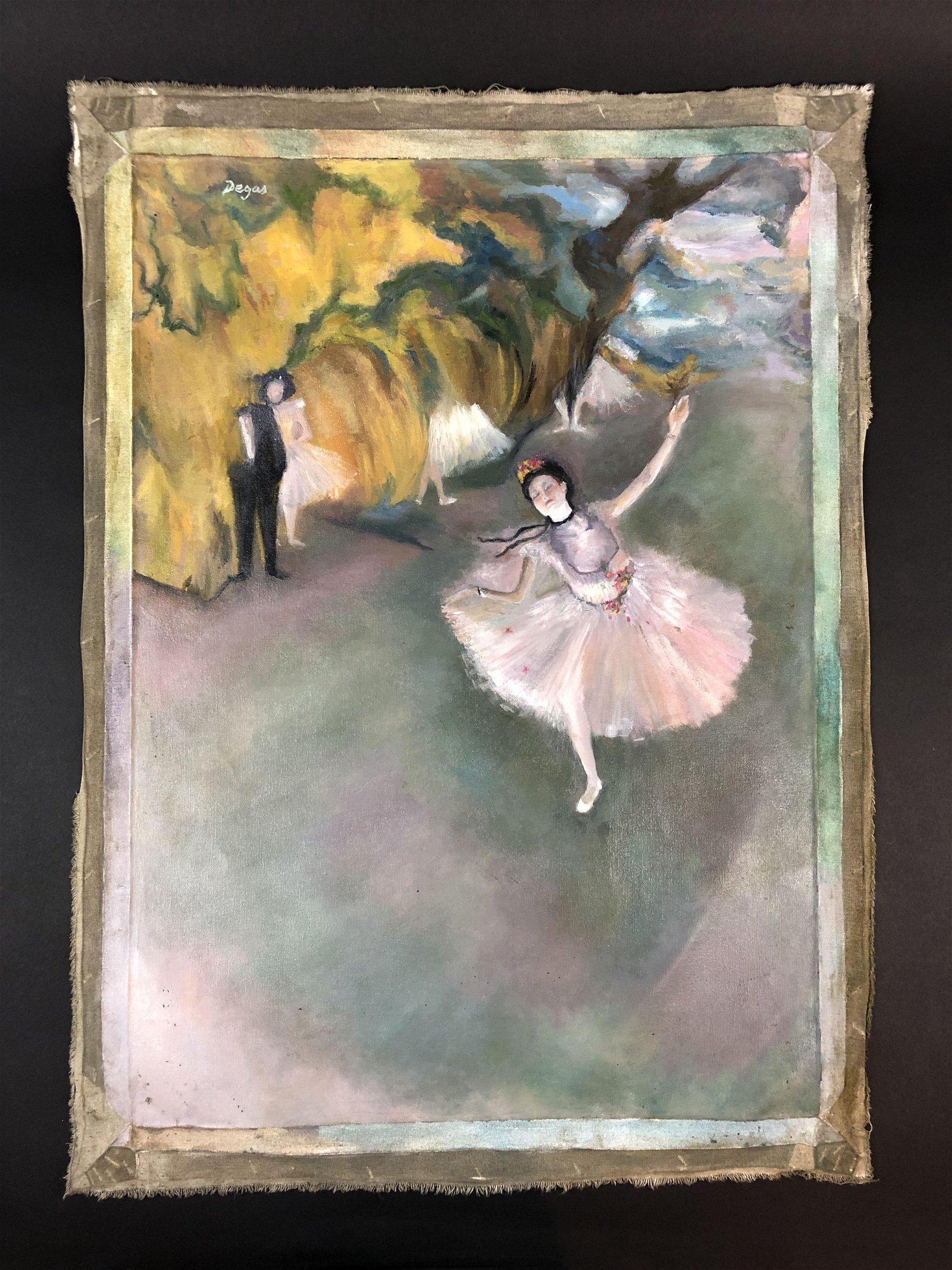 Edgar Degas (French, 1834-1917) - Oil on Canvas