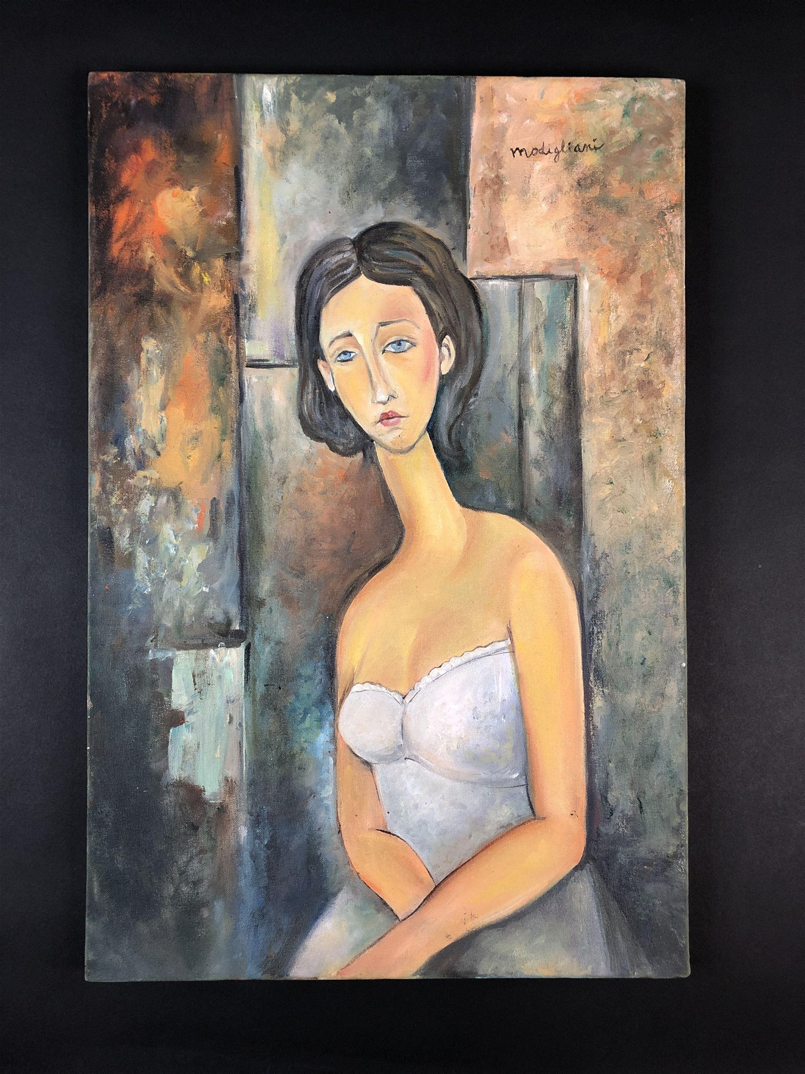 Amedeo Modigliani (Italian, 1884-1920) - Oil on Canvas