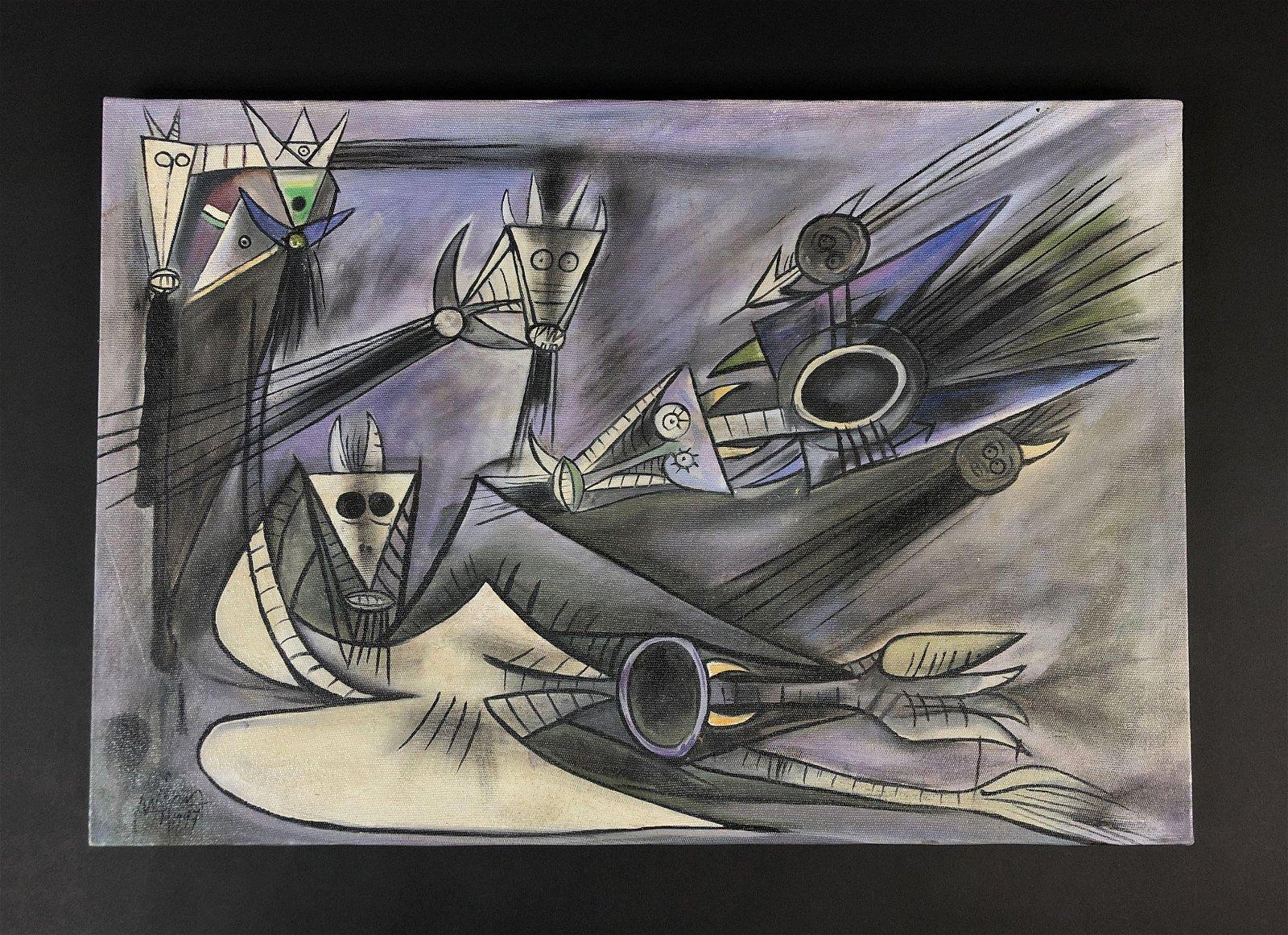 Wilfredo Lam (1902 - 1982) - Oil on Canvas