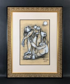 Pablo Picasso (1881-1973) - Mixed Media Drawing