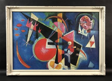 Wassily Kandinsky (1866 - 1944) - Oil on Board