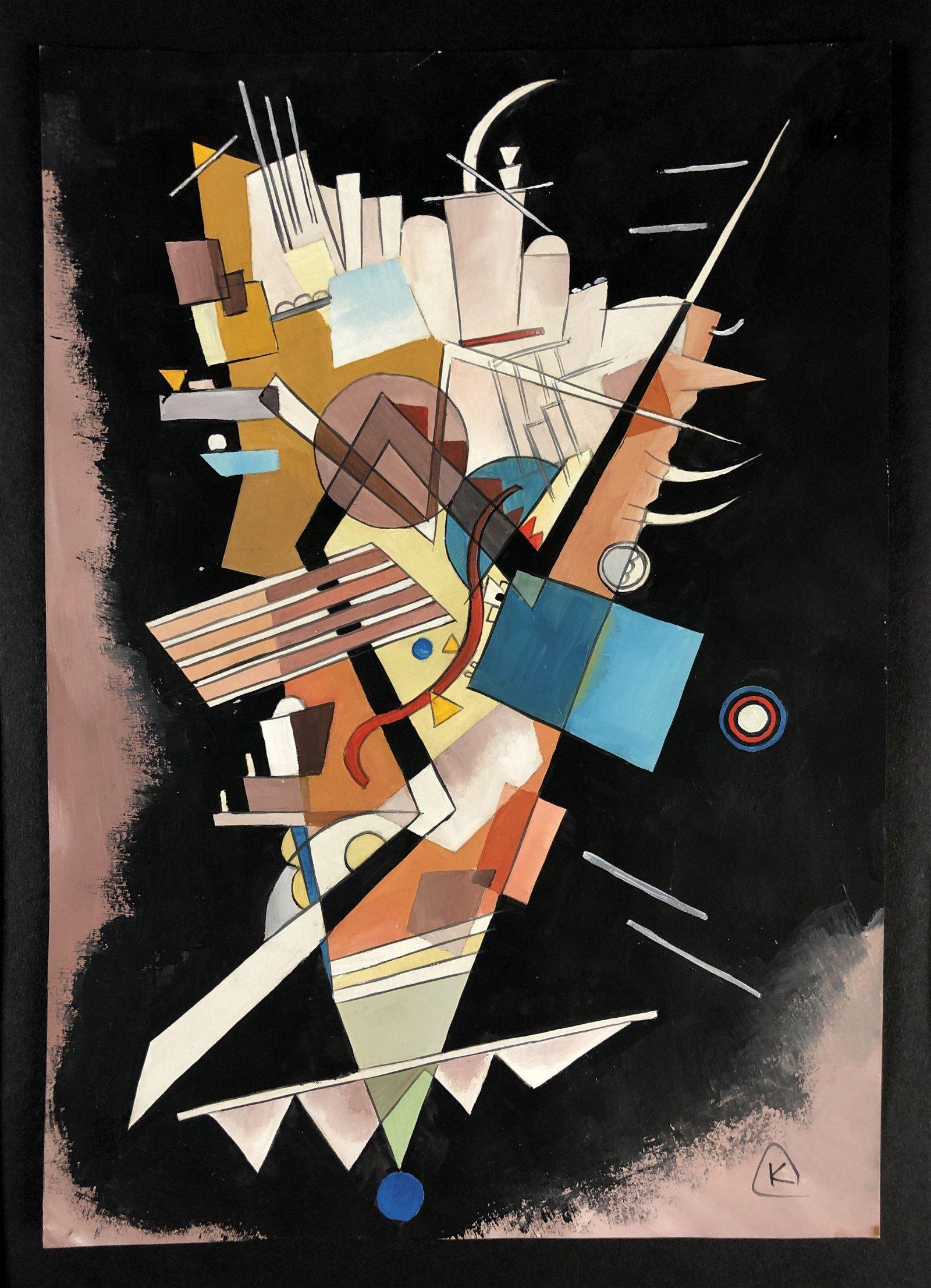 Wassily Kandinsky (1866-1944) - Mixed Media Drawing