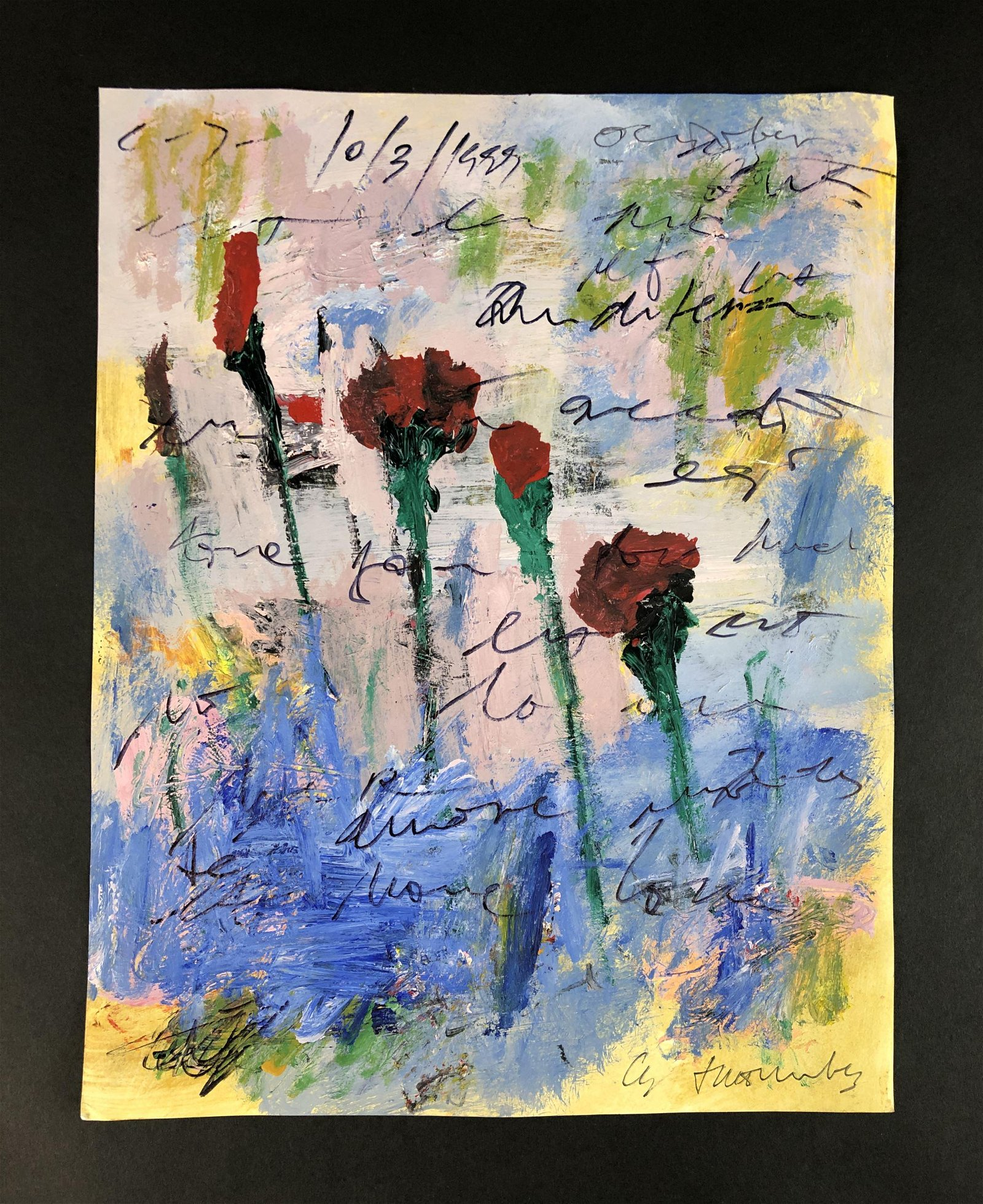 Cy Twombly (American, 1928-2011) - Mixed Media on Paper