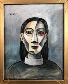 Pablo Picasso (Spanish, 1881-1973) - Oil on Canvas