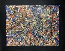Jackson Pollock (1912 - 1956) - Acrylic Painting