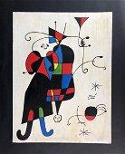 Joan Miro (Spanish, 1893-1983) - Acrylic on Board