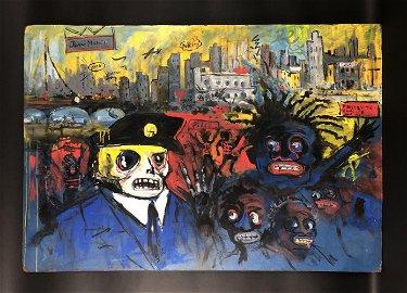 Jean-Michel Basquiat (1960-1988) - Acrylic Painting