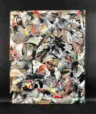 Jackson Pollock (American, 1912-1956) - Acrylic on