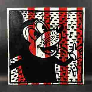 Keith Haring (American, 1958-1990) - Acrylic on Canvas