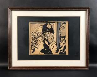 Roy Lichtenstein (American, 1923-1997) - Ink on Paper