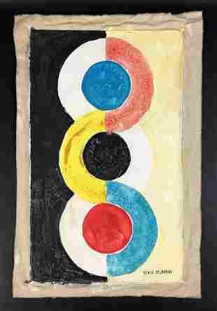 Sonia Delaunay (Russian-French, 1885-1979) - Watercolor