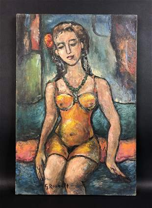 Georges Rouault (French, 1871-1958) - Oil on Canvas