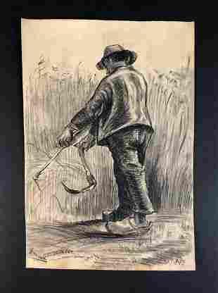 Vincent Van Gogh (Dutch, 1853-1890) - Graphite on Paper