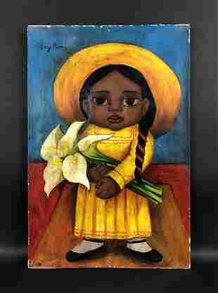 Diego Rivera (Mexican,1886-1957) - Oil on Canvas