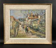 Maurice Utrillo (French, 1883-1955) - Oil on Board