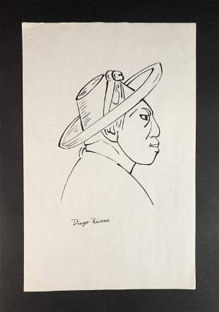 Diego Rivera (Mexican,1886-1957) - Ink on Paper
