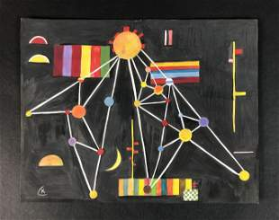 Wassily Kandinsky (Russian-French, 1866-1944) - Gouache