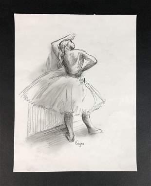 Edgar Degas (French, 1834-1917) - Graphite on Paper