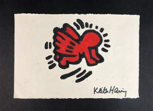Keith Haring (American, 1958-1990) - Mixed Media on