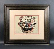 Jean-Michel Basquiat - Acrylic/Canvas (style of)