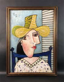 Pablo Picasso - Oil on Canvas (style of)