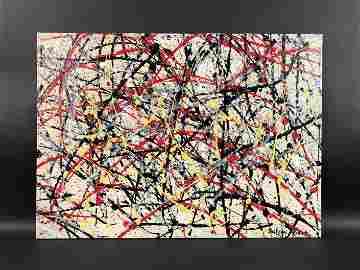 Jackson Pollock - Acrylic on Canvas (style of)