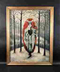 Remedios Varo - Oil on Canvas (style of)