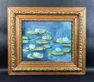 Claude Monet - Pastel on Paper (style of)