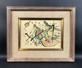Wassily Kandinsky - Watercolor on Paper (style of)