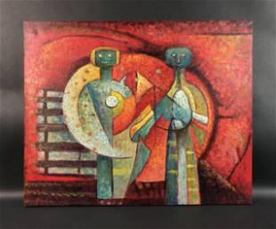 Rufino Tamayo - Acrylic on Canvas (style of)