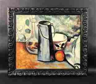 Paul Cezanne - Oil on Canvas Board (style of)