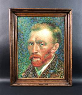 Vincent Van Gogh - Oil on Canvas (style of)