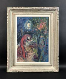 Marc Chagall - Oil on Canvas (style of)