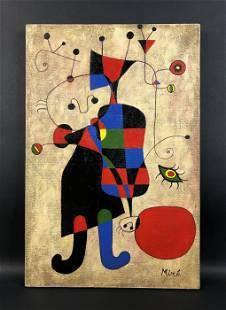 Joan Miro - Acrylic on Canvas (style of)