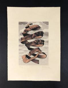 M.C. Escher - Print on Paper (style of)
