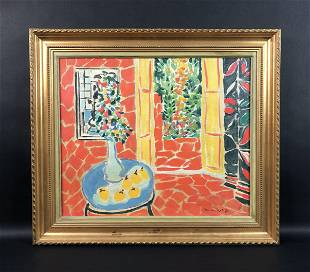 Henri Matisse - Oil on Canvas (style of)