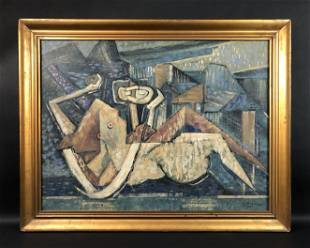 Georges Braque - Oil on Canvas (style of)