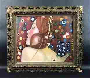 Gustav Klimt - Oil on Canvas Board (style of)