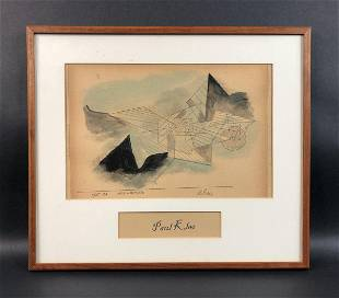 Paul Klee - Mixed Media on Paper (style of)