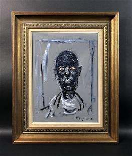 Alberto Giacometti - Oil/Canvas (style of)