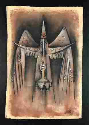 Wilfredo Lam - Mixed Media on Paper (style of)