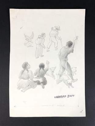 Conrad Buff IV - Graphite on Paper (style of)