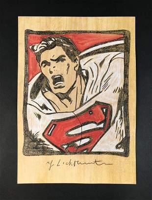 Roy Lichtenstein - Pencil/Paper (style of)