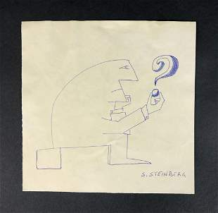 Saul Steinberg - Ink Drawing on Paper (style of)