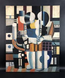 Fernand Leger (1881-1955) - Style of - Oil on Canvas