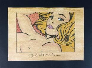 Roy Lichtenstein (1923-1997) - Style of - Mixed Media