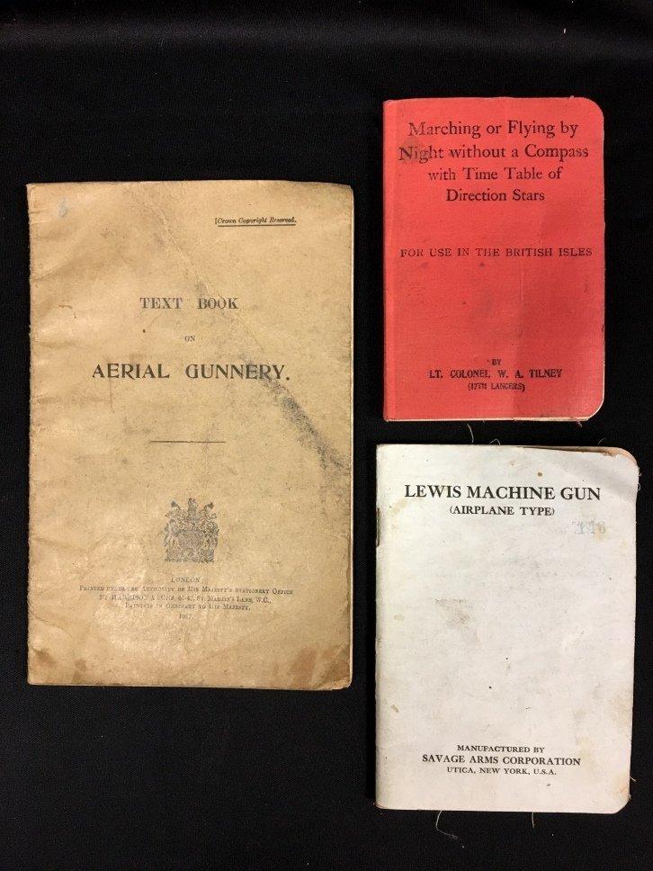 Lot of 3 World War I Era Aviation Instruction Manuals.